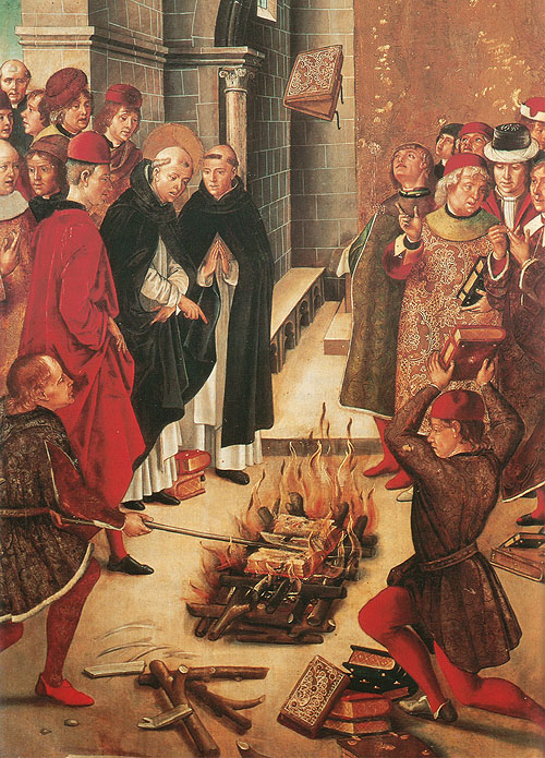 Spanish painting from the 1400s by Pedro Berruguete
