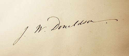 John W. Donaldson&#039;s signature